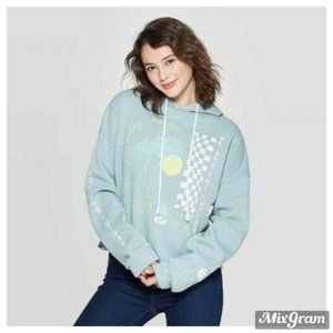 Grayson Threads Graphic Cropped Hoodie Large NEW